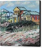 Seaside Cottages Canvas Print by Eve  Wheeler