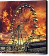 Seaside Ferris Wheel Canvas Print by Kim Zier