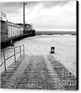 Seaside Heights Beach In Black And White Canvas Print by John Rizzuto