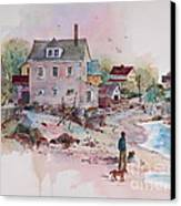Seaside Village Canvas Print by Sherri Crabtree