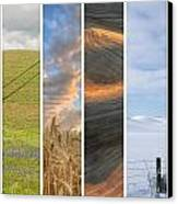 Seasons Of The Palouse II Canvas Print by Latah Trail Foundation