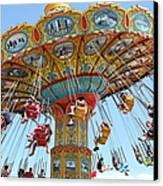 Seaswings At Santa Cruz Beach Boardwalk California 5d23897 Canvas Print by Wingsdomain Art and Photography