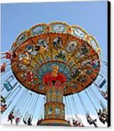 Seaswings At Santa Cruz Beach Boardwalk California 5d23901 Canvas Print by Wingsdomain Art and Photography