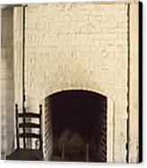 Seat By The Hearth Canvas Print by Margie Hurwich