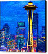 Seattle Space Needle 20130115v1 Canvas Print