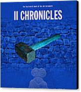 Second Chronicles Books Of The Bible Series Old Testament Minimal Poster Art Number 14 Canvas Print
