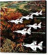 Sedona Thunderbirds Canvas Print by Benjamin Yeager