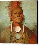 See Non Ty A An Iowa Medicine Man Canvas Print by George Catlin