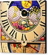 Seed Planting Clock Canvas Print