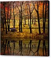 Seeing You Again Canvas Print by Debra and Dave Vanderlaan