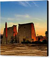 Seeking The Ancient Ruins Of Thebes In Luxor Canvas Print by Mark E Tisdale