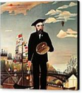 Self Portrait Canvas Print by Henri Rousseau