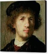 Self Portrait Canvas Print by Rembrandt Harmenszoon van Rijn