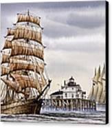 Semi-ah-moo Lighthouse Canvas Print by James Williamson