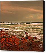 Sennen Storm Canvas Print by Linsey Williams