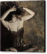 Sensuality In Sepia - Self Portrait Canvas Print by Jaeda DeWalt