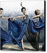 Sequential Dancer Canvas Print