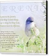 Serenity Prayer Canvas Print by Holly Kempe