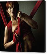 Series In Red Silk Knot Canvas Print by Monte Arnold