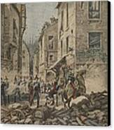 Serious Troubles In Italy Riots Canvas Print