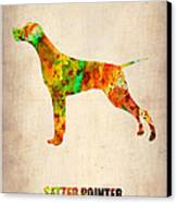 Setter Pointer Poster Canvas Print by Naxart Studio