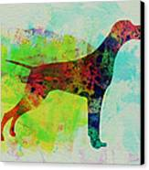 Setter Pointer Watercolor Canvas Print