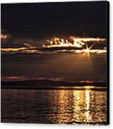 Setting Sun On Whidbey Island Canvas Print by Jeff Swanson