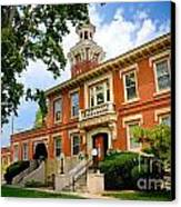 Sewickley Pennsylvania Municipal Hall Canvas Print by Amy Cicconi