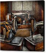 Sewing - A Chorus Of Three Canvas Print by Mike Savad