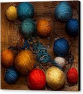 Sewing - Knitting - Yarn For Cats Canvas Print by Mike Savad