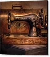 Sewing Machine  - Singer  Canvas Print by Mike Savad