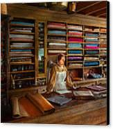 Sewing - Minding The Mending Store Canvas Print by Mike Savad