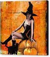 Sexy Halloween Canvas Print by Frederico Borges