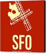 Sfo San Francisco Airport Poster 2 Canvas Print