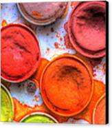 Shades Of Orange Watercolor Canvas Print by Heidi Smith