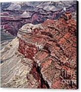 Shades Of Red In The Canyon Canvas Print by John Rizzuto