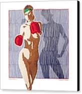 Shadow Boxer - 1 Canvas Print by Robert G Mears