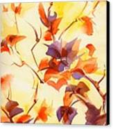 Shadow Leaves Canvas Print by Summer Celeste