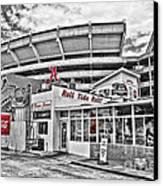 Shadow Of The Stadium Canvas Print by Scott Pellegrin