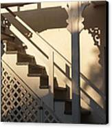 Shadowy Lambertville Stairwell Canvas Print by Anna Lisa Yoder