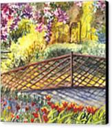 Shakespeare Garden Central Park New York City Canvas Print by Carol Wisniewski