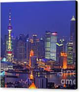 Shanghai's Skyline Canvas Print by Lars Ruecker
