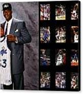 Shaquille O'neal Canvas Print by Joe Hamilton