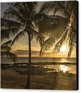 Sharks Cove Sunset 2 - Oahu Hawaii Canvas Print