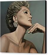 Sharon Stone Canvas Print by Paul Meijering