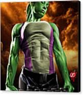 She-hulk 2 Canvas Print by Pete Tapang