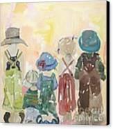she wants to be like Hepburn Canvas Print by Vicki Aisner Porter