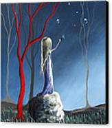 She Whispers Her Dreams By Shawna Erback Canvas Print