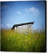 Shed In Field Canvas Print by Joyce Kimble Smith