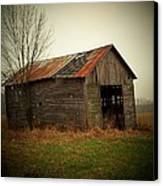 Shed In Pasture Canvas Print by Michael L Kimble